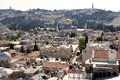 Jerusalem old town cityview with the dome of the rock mosque from the david s citadel israel Royalty Free Stock Photo