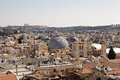 Jerusalem old town cityview with the domes of the church of the holy sepulchre from the david s citadel israel Royalty Free Stock Images