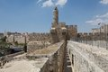 Jerusalem old town fortified wall israel Royalty Free Stock Photography
