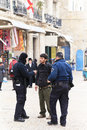 Jerusalem police protection day fall Royalty Free Stock Photography