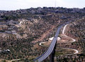 Jerusalem road Beit Jala 2005 Stock Photography