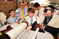 Jerusalem sep bar mitzvah ritual at the wailing wall on september in jerusalem israel boy who has become a bar mitzvah is morally Stock Photo