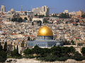 Jerusalem Skyline with Dome of the Rock Stock Photos