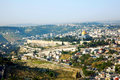 Jerusalem view of old city the Stock Photography