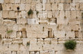 The Jerusalem wailing wall - closeup Stock Photos