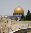 Jerusalem wailing wall and temple mount Stock Photography