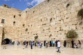 Jerusalem wall israel october jewish prayers and pilgrims beside western october in israel Royalty Free Stock Photos