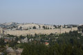 Jerusalem walls panoramic during sunny day Stock Image