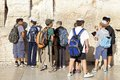 Jerusalem western wall jewish children are visiting and praying the at the old town israel Royalty Free Stock Images