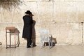 Jerusalem western wall jewish orthodox man are praying at the in the old town israel Royalty Free Stock Photography