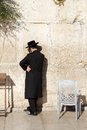 Jerusalem western wall jewish orthodox man are praying at the in the old town israel Royalty Free Stock Images