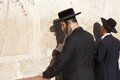 Jerusalem western wall jewish orthodox man are praying at the in the old town israel Stock Photography