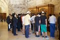 Jerusalem western wall jewish people are praying at the indoor sector at the old town israel Stock Photos