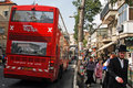 Jeruslaem double decker tour bus jerusalem apr pass in mea shearim on april it s a london style offering views of around major Stock Photos