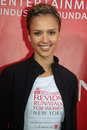 Jessica Alba at the 2009 Revlon RUN WALK Stock Photos
