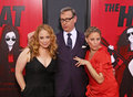 Jessica chaffin paul feig and jamie denbo actresses surround the heat director at the red carpet of the ziegfeld theatre on june Stock Images