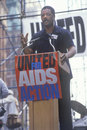 Jessie Jackson speaking at AIDS rally, Royalty Free Stock Photo