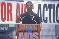 Jessie Jackson speaking at AIDS rally Stock Image