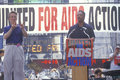 Jessie Jackson speaking at AIDS rally Stock Photos