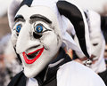 Jester carnival mask black and white at fasnacht in basel switzerland Stock Photography