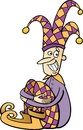 Jester clip art cartoon illustration of funny or joker Royalty Free Stock Photos