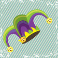 Jester design over lineal background illustration Royalty Free Stock Photos