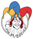 Jester face in a circle Royalty Free Stock Images