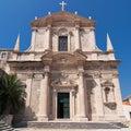 Jesuit church of dubrovnik st ignatius in croatia Stock Image