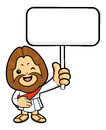 Jesus character is splashed to hold a picket christ Stock Images