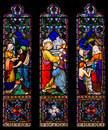 Jesus Christ Stained Glass Window Royalty Free Stock Photo