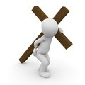 Jesus christ carrying his cross on the way to crucifixion Royalty Free Stock Images