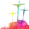 Jesus christ on the cross in abstract great illustration of crucified Royalty Free Stock Photos