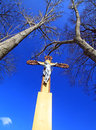 Jesus christ on the cross and blue sky Stock Photography