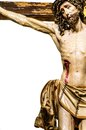 Jesus christ on the cross with white background Stock Photo