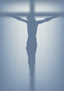 Jesus christ crucified drawing of nailed to the cross Royalty Free Stock Images