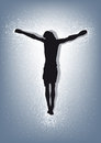 Jesus christ crucified drawing of nailed to the cross Stock Photo