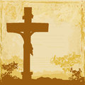 Jesus christ crucified grunge background Stock Photos