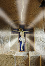 Jesus christ crucified sanctuary castel s elia near rome Royalty Free Stock Photography