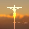Jesus christ crucifixion on good friday illustration of Royalty Free Stock Photos