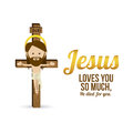 Jesus christ design over white background vector illustration Stock Photography