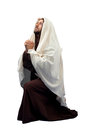 Jesus Christ full length in knee Royalty Free Stock Photo
