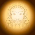 Jesus christ gloria shine light illustration portrait eps included Stock Image
