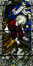 Jesus Christ the Good Shepherd in stained glass Royalty Free Stock Photo