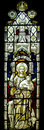 Jesus Christ Good Shepherd Stained Glass Window Royalty Free Stock Photo