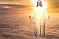 Jesus Christ in Heaven religion concept Royalty Free Stock Photo
