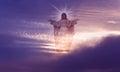 Jesus Christ in Heaven religion concept Royalty Free Stock Photo