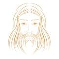 Jesus christ illustration portrait eps included Stock Photography