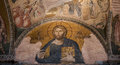 Jesus christ mosaic this is a from turkey istanbul the kariye museum formerly the church of st saviour in chora is decorated with Royalty Free Stock Photos