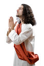 Jesus Christ personification isolated Royalty Free Stock Photos