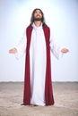 Jesus Christ praying to God Royalty Free Stock Photo